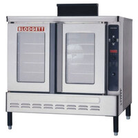 Blodgett DFG-200 Premium Series Single Deck Full Size Roll-In Bakery Depth Gas Convection Oven with Draft Diverter - 60,000 BTU