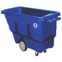 Continental 5840-1 0.625 Cubic Yard Blue Recycling Tilt Truck / Trash Cart (750 lb.)