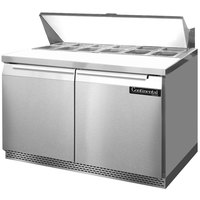 Continental Refrigerator SW48-12-FB 48 inch 2 Door Front Breathing Refrigerated Sandwich Prep Table