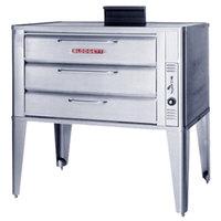 Blodgett 981 Natural Gas Single Deck Oven with Draft Diverter - 50,000 BTU