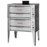 Blodgett 951 Natural Gas Double Deck Oven with Draft Diverter - 76,000 BTU
