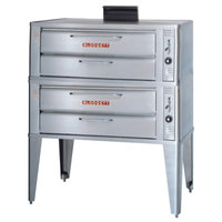 Blodgett 961 Natural Gas Double Deck Oven with Draft Diverter - 74,000 BTU