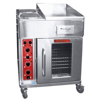 Blodgett CTBR-GFB Electric Range with 18 inch Right Griddle, Two Burners, and Convection Oven Base with Right-Hinged Door - 240V, 3 Phase, 16.8 kW