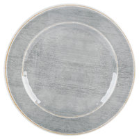 Carlisle 6400718 Grove 7 inch Smoke Round Melamine Bread and Butter Plate - 12/Case