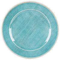 Carlisle 6400715 Grove 7 inch Aqua Round Melamine Bread and Butter Plate - 12/Case