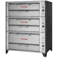 Blodgett 961/961/951 Natural Gas Triple Deck Oven with Vent Kit - 112,000 BTU