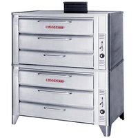 Blodgett 981 Natural Gas Double Deck Oven with Draft Diverter - 100,000 BTU