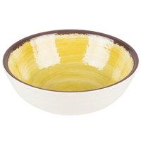 Carlisle 5400513 Mingle 17 oz. Amber Small Melamine Bowl - 12/Case