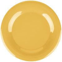 Carlisle 3302422 Sierrus 12 inch Honey Yellow Wide Rim Melamine Plate - 12/Case