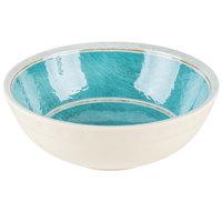 Carlisle 6400515 Grove 17 oz. Aqua Small Melamine Bowl - 12/Case