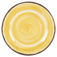 Carlisle 5400713 Mingle 7 inch Amber Round Melamine Bread and Butter Plate - 12/Case