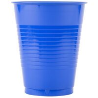 Creative Converting 28314781 16 oz. Cobalt Blue Plastic Cup - 20 / Pack