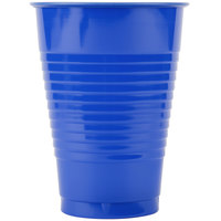 Creative Converting 28314771 12 oz. Cobalt Blue Plastic Cup - 20/Pack
