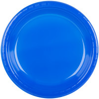 "Creative Converting 28314731 10"" Cobalt Blue Plastic Plate   - 20/Pack"