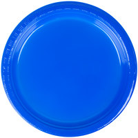 Creative Converting 28314711 7 inch Cobalt Blue Plastic Plate - 20/Pack
