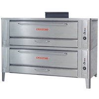 Blodgett 1060 Gas Double Pizza Deck Oven with Draft Diverter - 170,000 BTU
