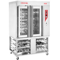 Blodgett XR8-G Gas Mini Rotating Rack Bakery Convection Oven with Stand - 110,000 BTU