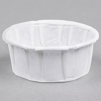 Genpak F050S .5 oz. Squat Harvest Paper Souffle / Portion Cup - 5000/Case