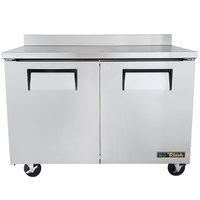 True TWT-48F-HC 48 inch Two Door Worktop Freezer