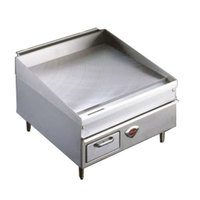 Wells 2436G 36 inch x 25 inch Stainless Steel Gas Countertop Griddle - 75000 BTU
