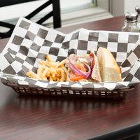 Tablecraft 1079BR Mas Grande 11 3/4 inch x 8 1/2 inch x 1 1/2 inch Brown Rectangular Polypropylene Fast Food Basket - 12/Pack