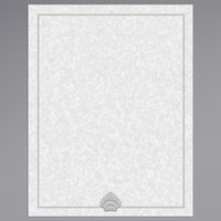 8 1/2 inch x 11 inch Menu Paper - Blue Shell Border - 100/Pack