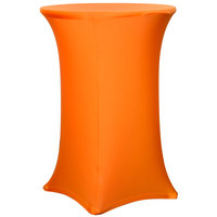 Snap Drape CC30R42-MANGO Contour Cover 30 inch Round Mango Bar Height Spandex Table Cover