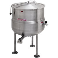 Blodgett KLS-80DS 80 Gallon Stationary Tri-Leg Steam Jacketed Direct Steam Kettle