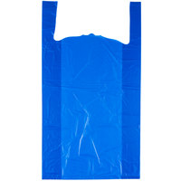18 inch x 7 inch x 32 inch .75 Mil Blue Unprinted Heavy-Duty Plastic T-Shirt Bag   - 400/Case