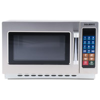 Solwave 1000W Stackable Commercial Microwave with Large 1.2 cu. ft. Interior and Push Button Controls - 120V