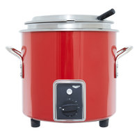 Vollrath 7217755 Red Finish Retro 7 Qt. Stock Pot Kettle Rethermalizer - 120V, 1450W