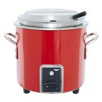 Vollrath 7217755 Red Finish Retro 7 Qt. Stock Pot Kettle Rethermalizer - 120V, 1450W
