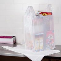 20 inch x 10 inch x 36 inch .71 Mil White Unprinted Plastic T-Shirt Bag - 250/Case
