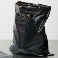 12 inch x 15 inch 1.5 Mil Black Unprinted Extra Heavy-Duty Plastic Merchandise Bag - 500/Case