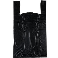 17 inch x 8 inch x 29 inch .71 Mil Black Unprinted Plastic T-Shirt Bag   - 400/Case