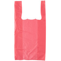 1/10 Size .55 Mil Pink Unprinted Embossed T-Shirt Bag - 1500/Case