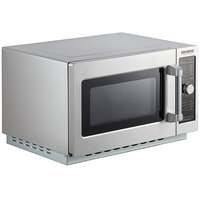 Solwave 1000W Stackable Commercial Microwave with Large 1.2 cu. ft. Interior and Dial Controls - 120V
