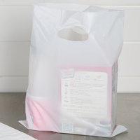 12 inch x 15 inch 1.5 Mil White Unprinted Extra Heavy-Duty Plastic Merchandise Bag - 500/Case