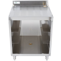 Regency Stainless Steel Corrugated Top Glass Rack Storage Unit - 23 inch x 24 inch