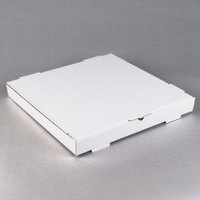 18 inch x 18 inch x 2 inch White Corrugated Plain Pizza / Bakery Box   - 50/Bundle