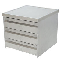 Advance Tabco ADT-3-2020 3 Tier Drawer Assembly with Side Panels - 20 inch x 20 inch x 5 inch Drawers