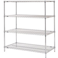 Metro N346C Super Erecta Chrome Wire Stationary Starter Shelving Unit - 18 inch x 42 inch x 63 inch