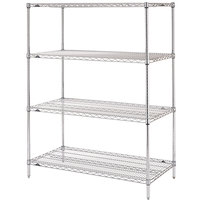 Metro N316C Super Erecta Adjustable Chrome Wire Stationary Starter Shelving Unit - 18 inch x 24 inch x 63 inch