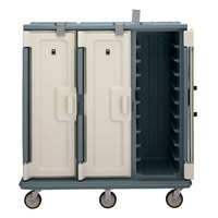 Cambro MDC1418T30401 Slate Blue 3 Compartment Meal Delivery Cart 30 Tray