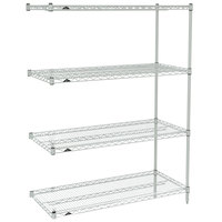 Metro AN336K3 Super Erecta Metroseal 3 Adjustable Wire Stationary Add-On Shelving Unit - 18 inch x 36 inch x 63 inch