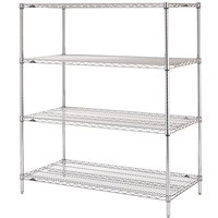 Metro N536C Super Erecta Adjustable Chrome Wire Stationary Starter Shelving Unit - 24 inch x 36 inch x 63 inch