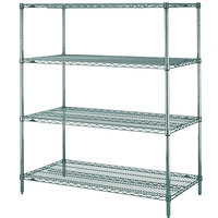 Metro N336K3 Super Erecta Metroseal 3 Adjustable Wire Stationary Starter Shelving Unit - 18 inch x 36 inch x 63 inch