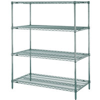 Metro N326K3 Super Erecta Metroseal 3 Adjustable Wire Stationary Starter Shelving Unit - 18 inch x 30 inch x 63 inch