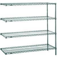 Metro AN356K3 Super Erecta Metroseal 3 Adjustable Wire Stationary Add-On Shelving Unit - 18 inch x 48 inch x 63 inch