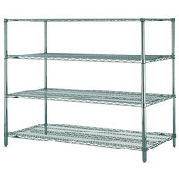 Metro N376K3 Super Erecta Metroseal 3 Adjustable Wire Stationary Starter Shelving Unit - 18 inch x 72 inch x 63 inch